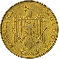 Coin, Moldova, 50 Bani, 2005, EF(40-45), Brass Clad Steel, KM:10
