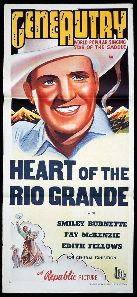 HEART OF THE RIO GRANDE Original Daybill Movie Poster G