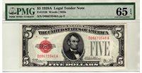 Fr.1526 $5 1928 A PMG GEM 65 EPQ