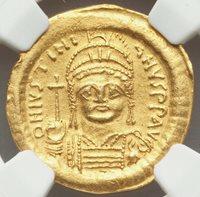 Byzantine Empire Justinian I the Great AD 527-565 AV solidus NGC AU 5/5 - 2/5