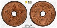 BELGIAN CONGO 1919 2 Centime - PCGS MS64RB
