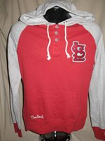 MLB St Louis Cardinals Grand Slam Hoody Hooded Sweatshirt Womens Sizes Nwt