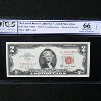 $ 2 1963 A Legal Tender Note, Fr #1514, PCGS 66 OPQ Gem Unc
