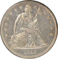 1843 Liberty Seated Dollar PCGS XF45 OC-3