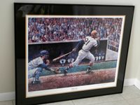 ROBERTO CLEMENTE LITHOGRAPH ~ 3000 HIT by DINO GUARINO~SIGNED BY ARTIST