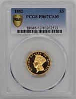 1882 INDIAN PRINCESS $3 PR67 Cameo