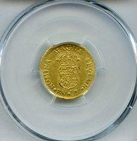 1769/7-PN J Colombia Escudo PCGS Genuine AU Detail