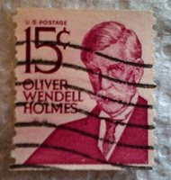 1978 Scott 1305e U. S. Oliver Wendell Holmes one used 15 cent stamp off paper