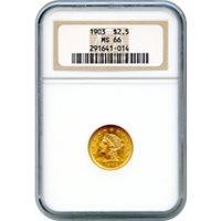1903 $2.50 Liberty Head Quarter Eagle NGC MS66