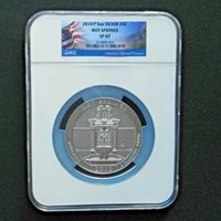 2010-P 5 oz Silver Coin, America The Beutiful, Hot Springs, NGC SP 69