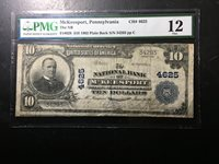National Bank Note Mckeesport PA PMG 12 Soiled