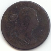 1800 Draped Bust Large Cent, Small Date, Small Fraction, Fine Details