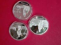 2005 Congo 3pc Holy Kings Silver Coin Set. No Box.
