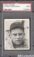 1936 Goudey CLYDELL CASTLEMAN PSA 7 NM Low Pop 1/8! Giants