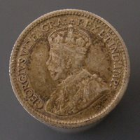 George V Five Cent Silver 1915