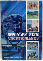 NEW YORK STATE VACATIONLANDS TOURISM TRAVEL BROCHURE 1964 WORLDS FAIR ISSUE