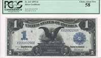 $1 Silver Certificate, 1899, FR233, Teehee-Burke, PCGS Ch About New 58, 3 of 4