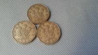 WORLD OLD COINS Great Britain 3 Pence Foreing Currency 3 Old Coins 1941/43/44