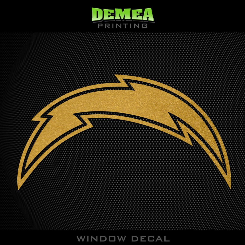 San Diego Chargers Decals: Gold Vinyl Sticker Decal 5""