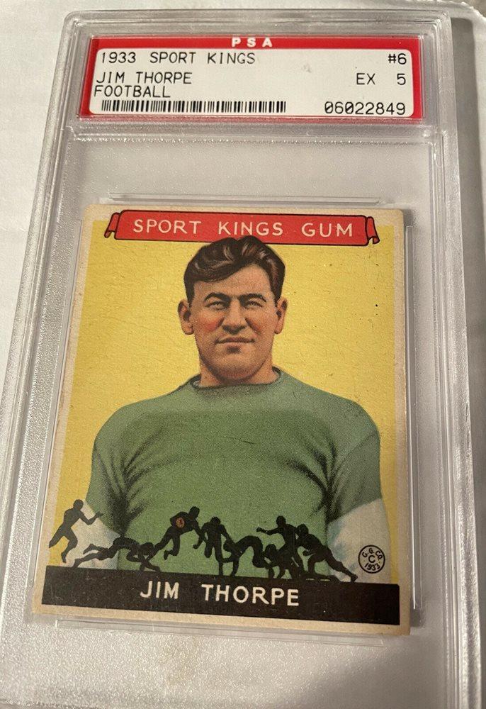 Jim Thorpe 1933 Sports Kings #6 Reprint