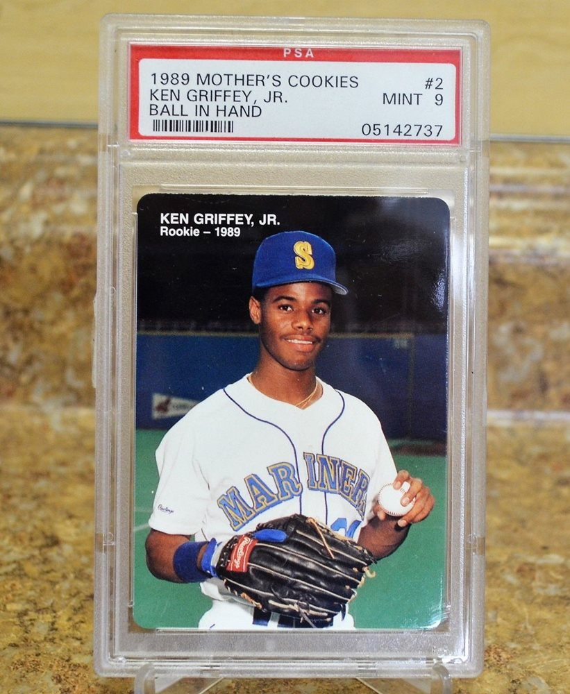 1989 Mothers Cookies Ken Griffey Jr Mariners 2 Psa Graded Mint 9 Rookie Card