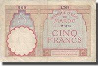 5 Francs Marokko Banknote, 1941-11-14, Km:23ab