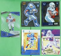 JONATHAN TAYLOR 2020 CHRONICLES ROOKIE LOT DYNAGON CLEAR VISION SCORE COLTS 5X