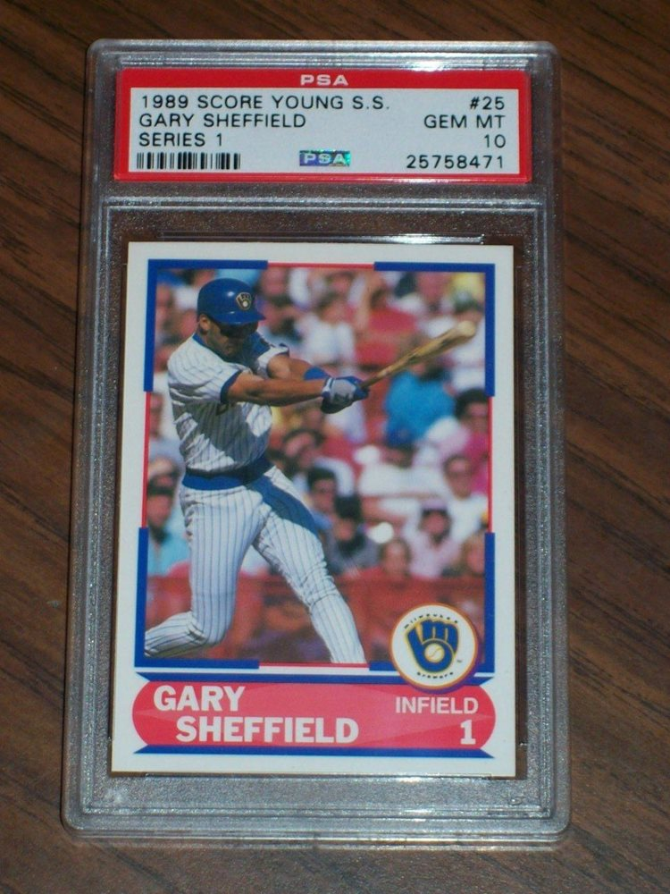 1989 Gary Sheffield Rookie Card 25 Score Young Ss Psa 10 Milwaukee Brewers