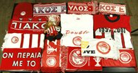 Olympiacos Lot Scarves Shirts Hat Mascot