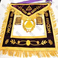 GRAND MASTER APRON FULLY HAND EMBROIDERY PURPLE-HSE