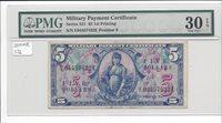 MPC Series 521 5 Dollars 1st printing PMG 30EPQ VERY FINE