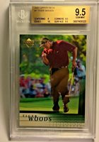 2001 Upper Deck #1 Tiger Woods RC Rookie BGS 9.5 GEM MINT with a 10 subgrade!!