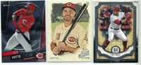 Lot of 3 Joey Votto Reds 2018 Museum #9,2019 Finest #26,2019 Allen & Ginter #102