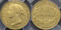 1863 Sydney Mint Half Sovereign - PCGS XF40