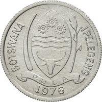 Botswana, Thebe, 1976, British Royal Mint, MS(65-70), Aluminum, KM:3