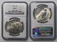 1927 $1 Peace Dollar NGC MS 61