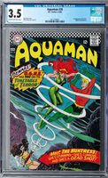 Aquaman #26 CGC 3.5 (Mar-Apr 1966, DC) Cardy cover, 1st Huntress & Typhoon app.