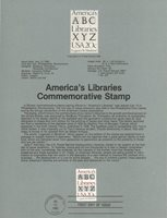 1982 U. S. USPS one Souvenir Page Scott 2015 America's Libraries 20 cent stamp