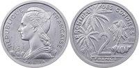 2 Francs 1964 Komoren Probe / Essai Aluminium