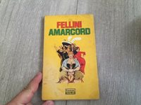 FEDERICO FELLINI AMARCORD 1st PRINT BOOK from MIDDLE EAST 1976 ! COVER ART !
