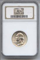 1951 Silver Washington Quarter NGC MS 64 Certified - Philadelphia Mint