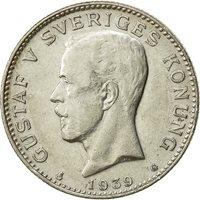 Sweden, Gustaf V, Krona, 1939, Bern, EF(40-45), Silver, KM:786.2