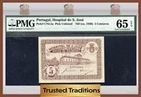 5 Centavos 1920 Pk Unl5a Portugal Pmg 65 Epq Gem Uncirculated!
