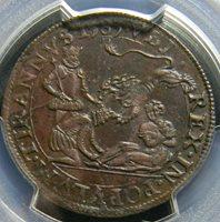 1583 Netherlands Aversion to the Duke of Anjou Jeton PCGS AU 50 Dugn 2939