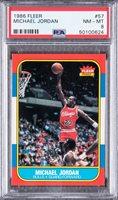 1986/87 Fleer #57 Michael Jordan Rookie Card - PSA NM-MT 8