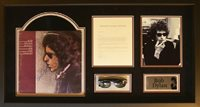 Bob Dylan personally owned Ray Ban Sunglasses with signed album