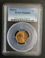 1944 S Lincoln Wheat Cent PCGS MS 66RD 010