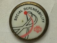 Vintage Girl Scouts Pin Social Dependability On Original Card