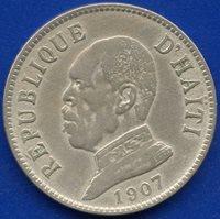 1907 Haiti 20 Centimes Coin
