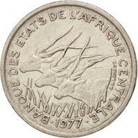 Central African States, 50 Francs, 1977, Paris, EF(40-45), Nickel, KM:11